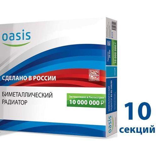 004 Радиатор биметаллический ОАЗИС 350/80/10
