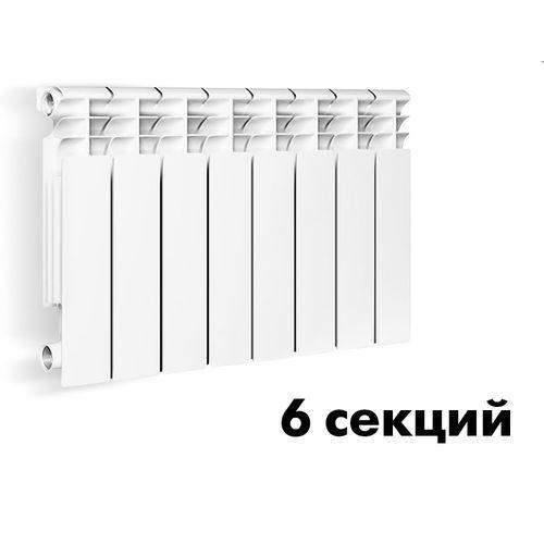 """004Радиатор алюм.литой """"ОАЗИС""""  350/80/6 секций"""