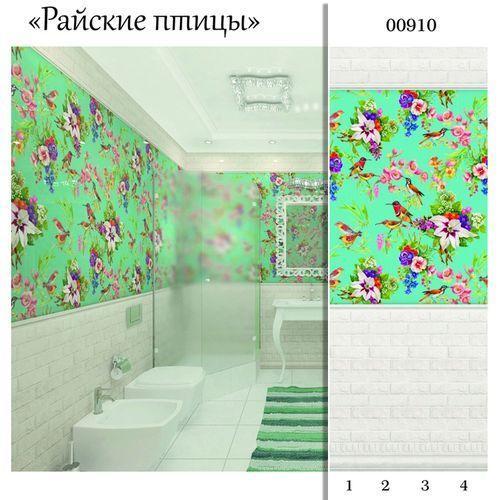 """00910 Дизайн-панели PANDA """"Райские Птицы"""" Панно 4шт(8,1м2=12шт) Узор"""