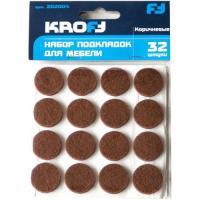 202004 Набор подкладок для мебели  KROFT 32шт, коричневые