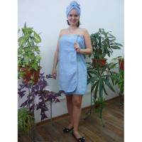Банный комплект женский голубой