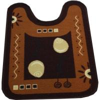 Коврик для туалета NL 57х78см коричневый