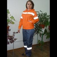 Куртка -Дождевик оранж р.44