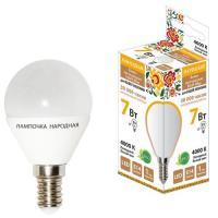 Лампа светодиодная FG45-7 Вт-230 В-4000 КE14 Народная (SQ0340-0186)
