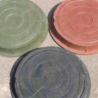 Люк ПП садовый серый (до 3тонны)Ф760мм*90мм вес 40 кг_Т