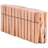 Прищепки для белья деревянные PEG-W-S/24 в наборе 24 шт. (дерево, металл) арт.311372