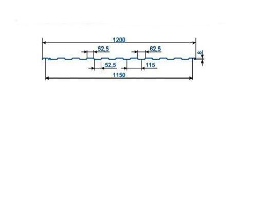 Профнастил оцинкованный С-8 (1,5 х 1.2 х 0.40)