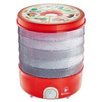 Сушилка для овощей и фруктов ВАСИЛИСА СО3-520, 520Вт (красная с прозрачными секциями)