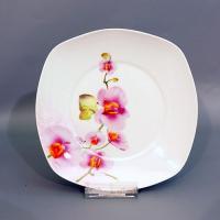 """Тарелка обеденная 9"""" 23см OV1203-2 орхидея квадр"""