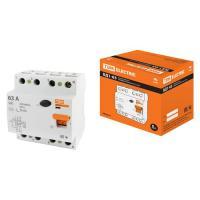 Устройство защитного отключения ВД1-63 4Р 63А 30мА TDM (SQ0203-0044) Р
