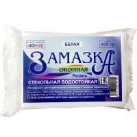 """Замазка оконная БЕЛАЯ (0.4 кг  ПО """"РАДУГА"""")"""